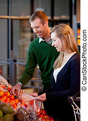 Supermarket Couple