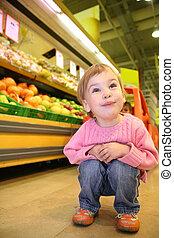 supermarket, dítě