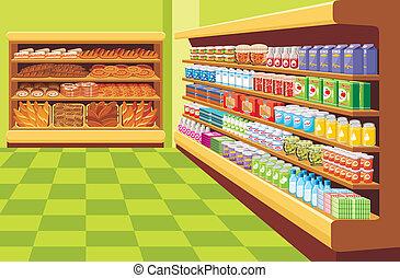 Supermarket. vector