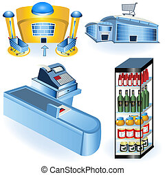 Supermarket icons 2 - A collection of supermarket icons -...