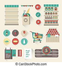 Supermarket icons - Vector Supermarket icon set