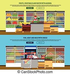 Supermarket Interior Banners