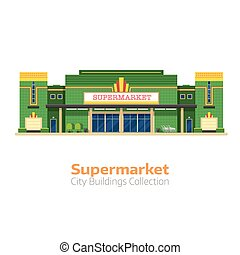 Supermarket or Grocery Store Building