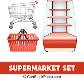 Supermarket Realistic Set