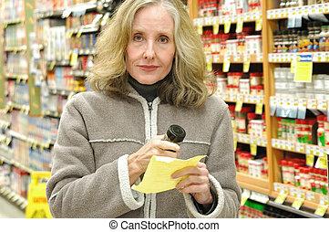 Supermarket shopper.