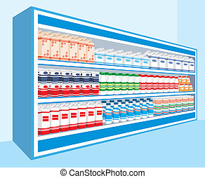 Supermarket - Vector illustration. It is created in the...