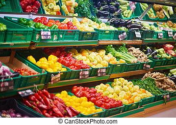 supermarket vegetables - supermarket vegetable store food...
