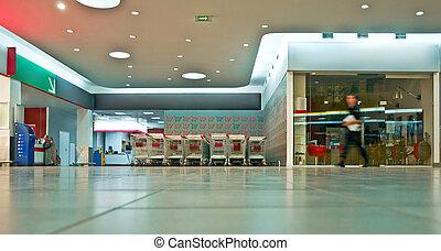 Supermarket vestibule - hypermarket lobby interior