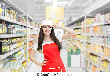 Supermarket Woman Employee