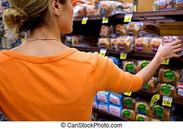 supermarket, zákazník