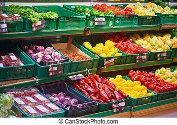 supermarkt, groentes