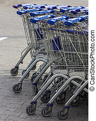 supermarkt, karretjes