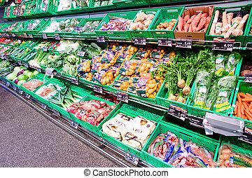 supermercado, alimento