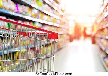 supermercado, carreta