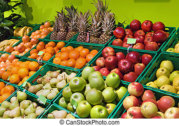supermercado, frutas