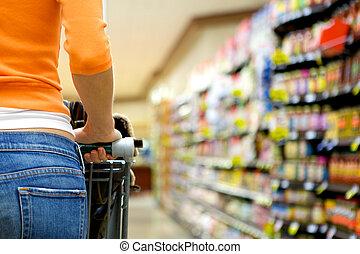 supermercato, acquirente