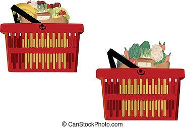 supermercato, cesti