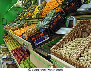 supermercato, frutte