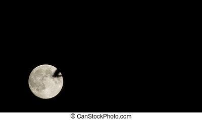 Supermoon timelapse. Wide shot. - Timelapse of full moon...
