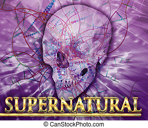 Supernatural Abstract concept digital illustration