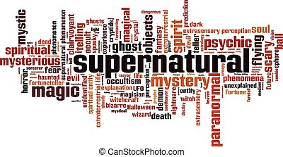 Supernatural.eps - Supernatural word cloud concept. Vector...