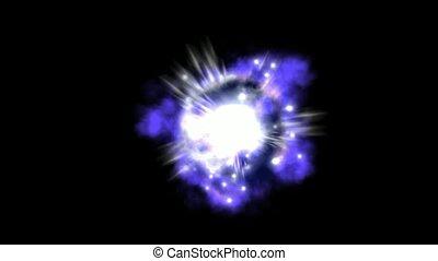 supernova, explosão, e, nebulosa