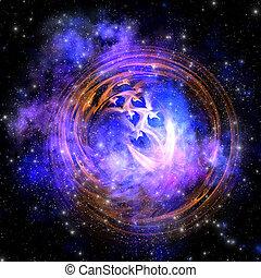 SUPERNOVA REMNANT - Leftover remnants from a supernova...