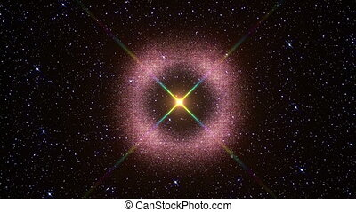 supernova star explosion in space