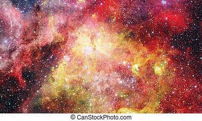 Supernova with glowing nebula. Elements of this image...