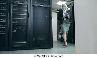 superordinateur, travail, analyse