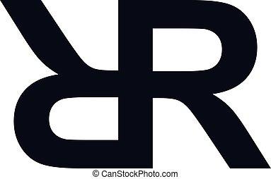 superpuesto, arte, inicial, logotype, tema, vector, carta, ...