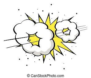 Supersonic boom - Cartoon illustration of supersonic boom,...