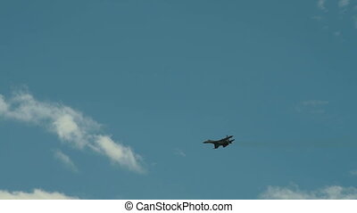 Supersonic fighter jet - Flight of supersonic fighter jet...