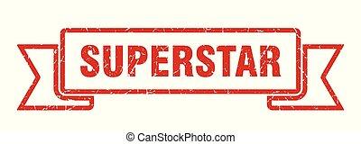 superstar grunge ribbon. superstar sign. superstar banner