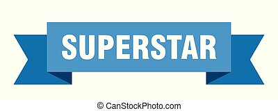 superstar ribbon. superstar isolated sign. superstar banner