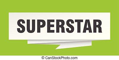 superstar sign. superstar paper origami speech bubble....