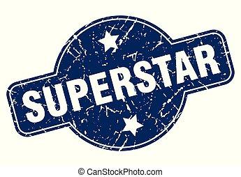 superstar sign - superstar vintage round isolated stamp