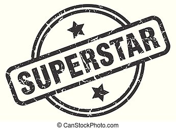 superstar stamp isolated on white