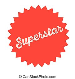 superstar stamp on white background . Sign, label sticker