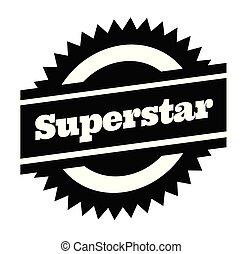 superstar stamp on white - superstar black stamp in german...