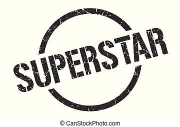 superstar stamp - superstar black round stamp