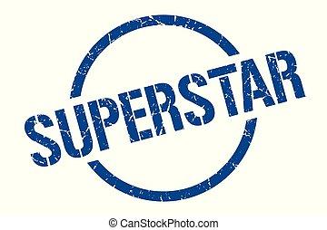 superstar stamp - superstar blue round stamp