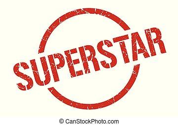superstar stamp - superstar red round stamp