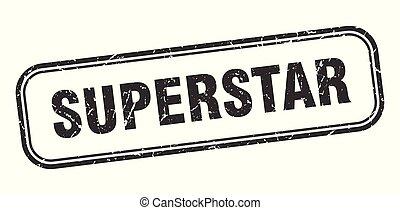 superstar stamp. superstar square grunge sign. superstar