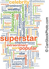 superstar wordcloud concept illustration