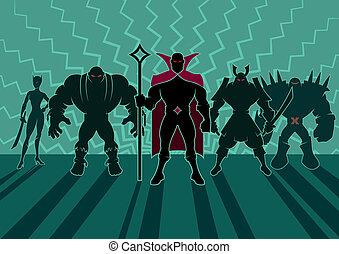 supervillain, equipe