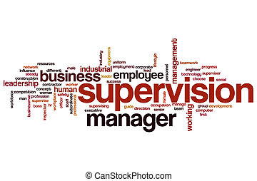 Supervision word cloud concept