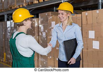 Supervisor and storage worker