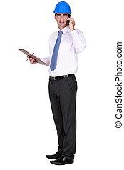 supervisor, fazendo uma ligação