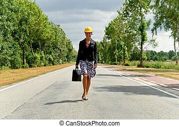 Supervisor  female  nature road